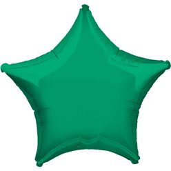 "Green Star Balloon - 19"" Foil - unpackaged"
