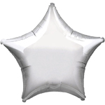 "Metallic Silver Star Balloon - 19"" Foil - unpackaged"
