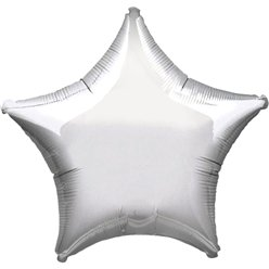 Metallic Silver Star Balloon - 19'' Foil - unpackaged