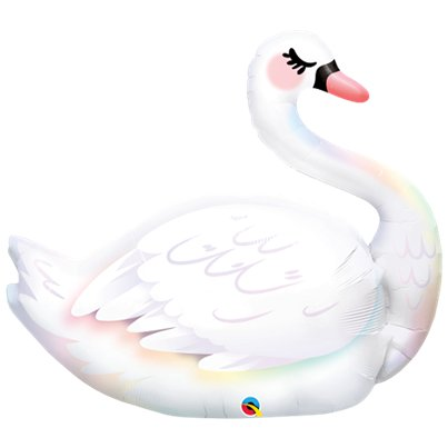 "Graceful Swan Supershape Balloon - 35"" Foil"