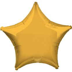 Gold Star Balloon - 19'' Foil - Unpackaged