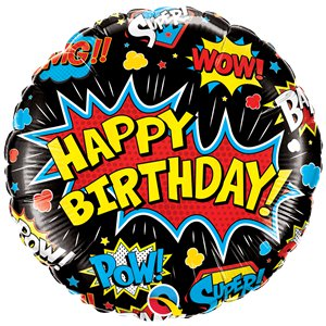 Super Hero Birthday Balloon - 18
