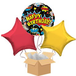 Superhero Balloon Bouquet - Delivered Inflated
