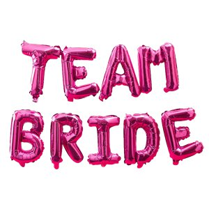Team Bride Pink Balloon Bunting - 16