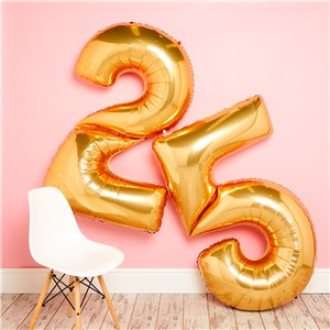 Gold Number 5 Balloon - 64