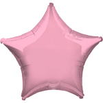 "Iridescent Pearl Pink Star Balloon - 19"" Foil - unpackaged"
