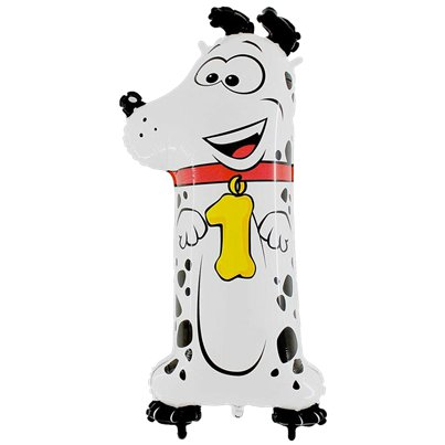"Dog Number 1 Balloon - 40"" Animaloon Foil"