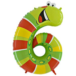 Caterpillar Number 6 Balloon - 40'' Animaloon Foil