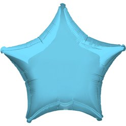 "Light Blue Star Balloon - 19"" Foil"