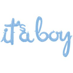 "Baby Blue It's A Boy Phrase Balloon - 56"" Foil"