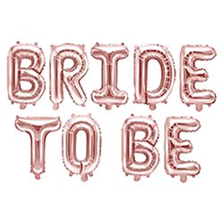 "Rose Gold Bride To Be Balloon Bunting - 16"" Foil"