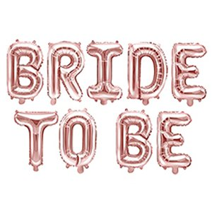Rose Gold Bride To Be Balloon Bunting - 16