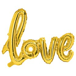 "Gold Love Balloon - 28"" Foil"