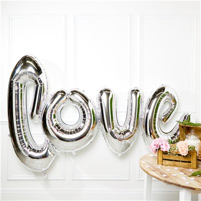 Giant Silver Love Balloon - 53