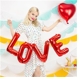 Red Love Foil Balloon - 55