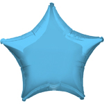 "Pale Blue Star Balloon - 19"" Foil - unpackaged"