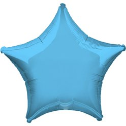Pale Blue Star Balloon - 19