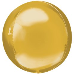 "Gold Orbz Balloon - 16"" Foil"