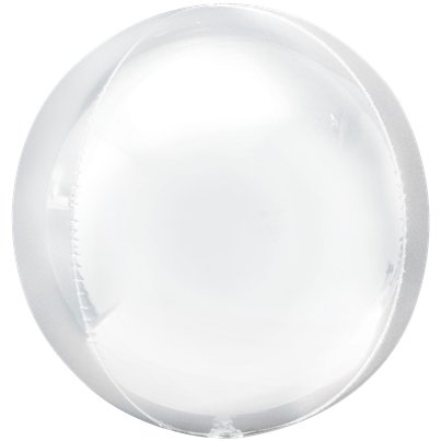 "White Orbz Balloon - 16"" Foil"
