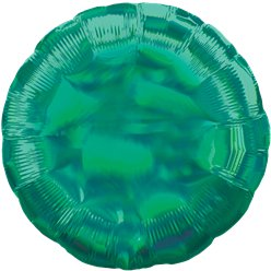 "Green Iridescent Circle Balloon - 18"" Foil"
