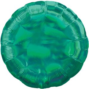 Green Iridescent Circle Balloon - 18