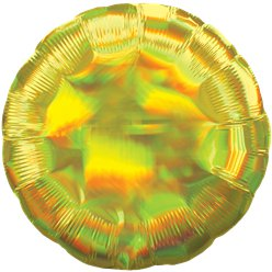 "Yellow Iridescent Circle Balloon - 18"" Foil"