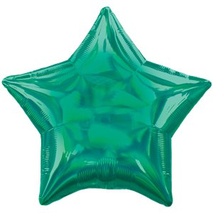 Green Iridescent Star Balloon - 18