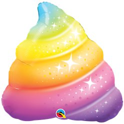 "Rainbow Poop Supershape Balloon - 30"" Foil"