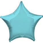 "Robins Egg Blue Star Balloon - 19"" Foil - unpackaged"