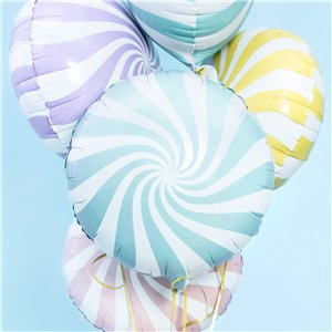 Light Blue Candy Swirl Foil Balloon - 18