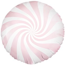 Light Pink Candy Swirl Foil Balloon - 18""