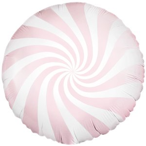 Pink Candy Stripe Balloon Bouquet