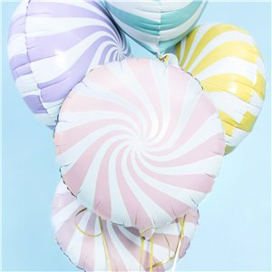 Light Pink Candy Swirl Foil Balloon - 18