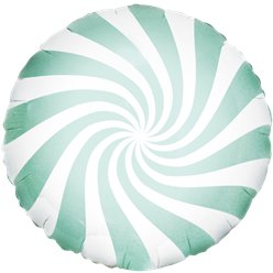Mint Green Candy Swirl Foil Balloon - 18""