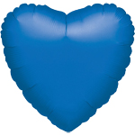 "Metallic Blue Heart Balloon - 18"" Foil - unpackaged"