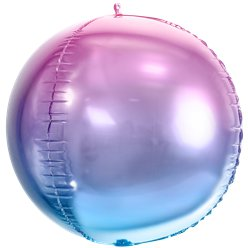 Violet & Blue Ombre Foil Balloon Ball - 14""