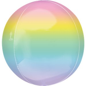 Pastel Rainbow Orbz Balloon - 16