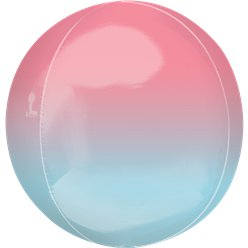 "Pink & Blue Orbz Balloon - 16"" Foil"