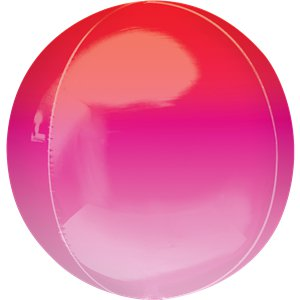 Red & Pink Orbz Balloon - 16