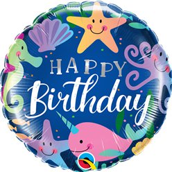 "Happy Birthday Under The Sea Balloon - 18"" Foil"