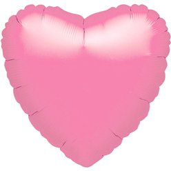 Metallic Pink Heart Valentines Balloon - 18'' Foil - unpackaged