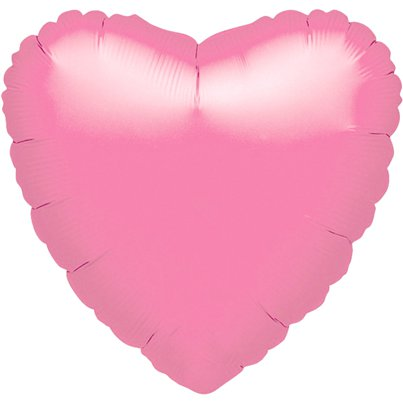 "Metallic Pink Heart Balloon - 18"" Foil - unpackaged"