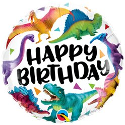 "Birthday Dinosurs Balloon - 18"" Foil"