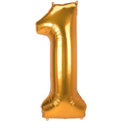 "Gold Number 1 Balloon - 53"" Foil"