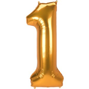 Gold Number 1 Balloon - 53