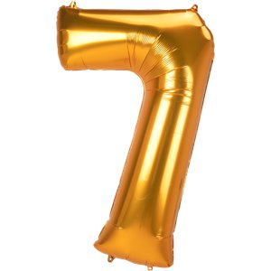 Gold Number 7 Balloon - 53