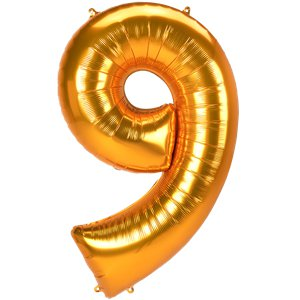 Gold Number 9 Balloon - 53