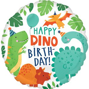 Dinosaur Happy Birthday Balloon - 18