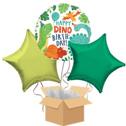 Dinosaur Happy Birthday Balloon Bouquet - Delivered Inflated