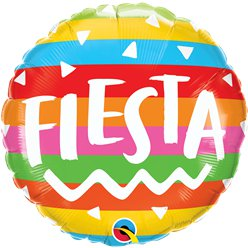 "Fiesta Rainbow Stripes Balloon - 18"" Foil"